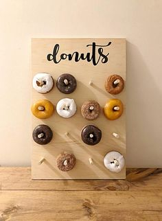 Wedding Donut Wall Donut Stand For Wedding Rustic Donut