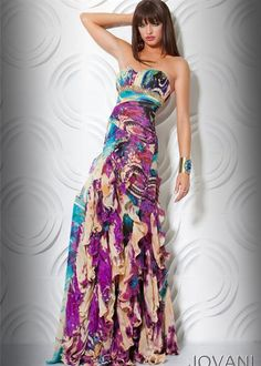 Jovani 71913 Dress at Peaches Boutique Printed Gowns 9bd940d3b