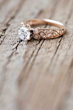 Wilson Diamonds: Ring Style Number R5520E #rosegold #engravedring…
