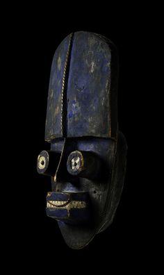 Grebo mask, from Ivory Coast or Liberia #design #interiors #architecture www.motherofpearl.com