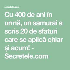 Cu 400 de ani în urmă, un samurai a scris 20 de sfaturi care se aplică chiar și acum! - Secretele.com