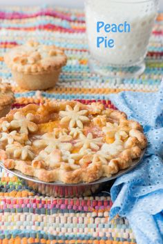 """Peach Pie with """"Groovy"""" Flower Cut Outs"""