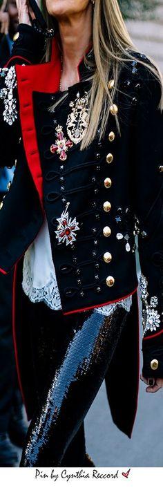 Street Style Paris Fashion Week | SS 2017 | cynthia reccord, uniform dressing is back