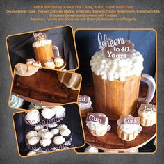 Le Mie Cose Favorites 40th Birthday Cake - - Beer Mug