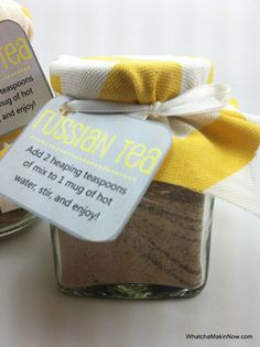 Whatcha Makin' Now?: Russian Tea Mix, DIY Gift Idea... This stuff is SO yummy and easy to make too!