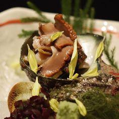 """Sazae"" Turban Shell Sashimi  栄螺お造里  #kaiseki #cuisine #kitaohji #sazae #turbanshell #サザエ #栄螺 #sashimi #japanesefood #instafood #foodpic #yum #yummy #thonglor #sukhumvit #bangkok #อาหารญ #dinner #authenticjapanesecuisine by kitaohji_thailand"