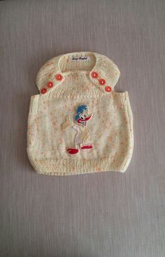 Knit baby vest by NORTHsKNITTINGs on Etsy