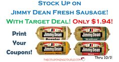 Stock the freezer with Jimmy Dean Sausage Rolls! Print your coupons to grab rolls for only $1.94 with a Target deal!  Click the link below to get all of the details ► http://www.thecouponingcouple.com/jimmy-dean-sausage-rolls/ #Coupons #Couponing #CouponCommunity  Visit us at http://www.thecouponingcouple.com for more great posts!