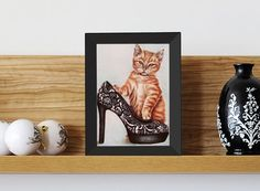 $50.00 USD Original Drawing Orange Tabby Cat with by ArtistrybyLisaMarie