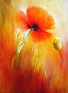 "Annette Schmucker, ""Mohn im Kornfeld"" With a click on 'Send as art card', you can send this art work to your friends - for free!"
