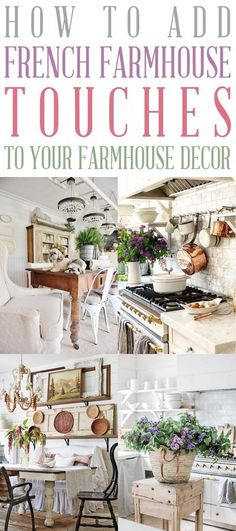 French Cottage Style, French Country Living Room, French Country Farmhouse, Shabby Chic Farmhouse, French Country Style, Farmhouse Kitchen Decor, Farmhouse Style, Country Bedrooms, French Decor