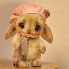 "*TATA ~ little bunny - OOAK 4,7"" / Teddy Bears & Pals / Teddy Talk: Creating, Collecting, Connecting"