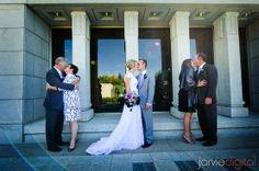 Les mariés et leurs parents