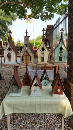 Recycling is for the birds birdhouses.