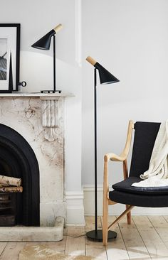 The Beacon Lighting Citta 1 light floor lamp in black