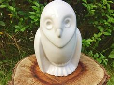 Hey, I found this really awesome Etsy listing at https://www.etsy.com/listing/523497202/white-porcelain-owl-statue-ceramic-owl