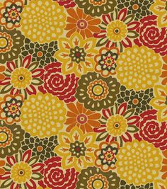Waverly Modern Essentials Fabric-Button Blooms / Harvest : home decor fabric : fabric :  Shop | Joann.com