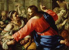 Jesus cleanses the temple | Bernardino Mei