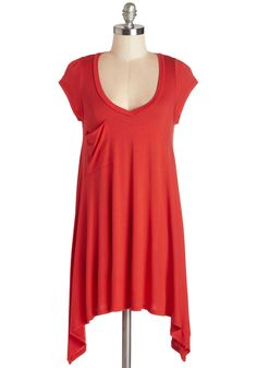 A Crush on Casual Top in Tomato, @ModCloth
