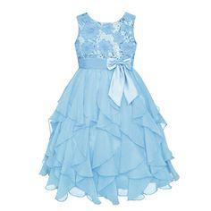 Girls 7-16 American Princess Sequin Corkscrew Ruffle Dress