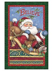 "Christmas & Winter Fabric - Christmas Believe Panel - 24"" x 42"""