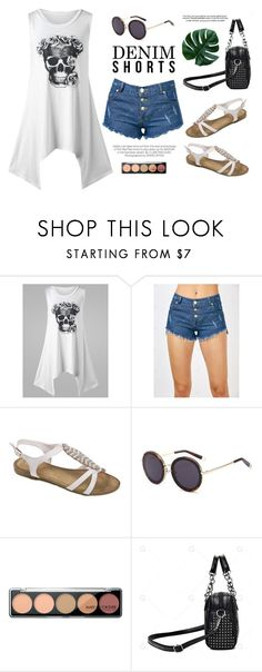 """""""Denim shorts"""" by yexyka ❤ liked on Polyvore featuring Kershaw"""