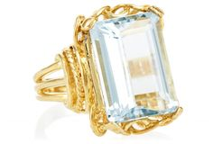 Blue Topaz Vintage Ring