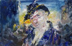 Jack Butler Yeats (Irish, A Soldier of Fortune, Oil on board, x cm. Jack B, Contemporary Paintings, Butler, Modern Art, Irish, Oil, Board, Irish People, Ireland