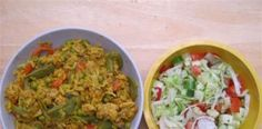 Healthy and slimming Slimming World Curry, Fried Rice, Fries, Chicken, Healthy, Ethnic Recipes, Food, Essen, Meals