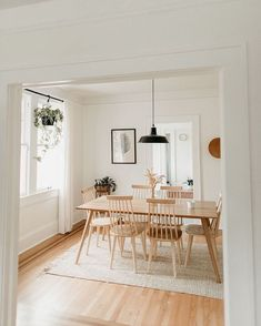 Home Style: Living Spaces Dining Room Decor Home Living Minimalist Spaces style Room Interior, Interior Design Living Room, Living Room Decor, Living Spaces, Living Rooms, Dining Room Design, Dining Room Table, Dining Table Lighting, Hall Lighting