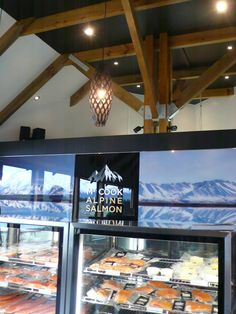 Mt Cook Alpine Salmon Shop at Lake Pukaki.