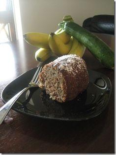 Banana zucchini bunt cake