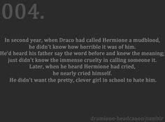 I'm actually starting to care about Draco where I didn't before... THIS IS WHAT SO MANY YEARS SINCE THE END DOES TO A PERSON!