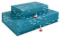 Kimono Box, S, deep blue   Paper   pleased to meet