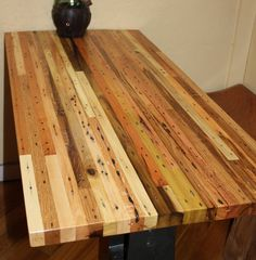 Solid Hardwood Custom Butcher Block, Made from Recycled Pallets (from etsy; no longer on the site)