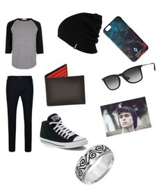 """""""Guy's Casual outfit"""" by sassy13styler on Polyvore featuring River Island, True Religion, Converse, Cherish Always, Huckle & Harper, Patagonia, ADAM, Ray-Ban, Marcelo Burlon and men's fashion"""