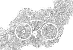 Bike meditation drawing by KPDesign.
