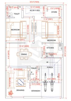 The Effective Pictures We Offer You About Residential Architecture bungalow A … 2bhk House Plan, Model House Plan, House Layout Plans, Duplex House Plans, House Layouts, House Floor Plans, 30x50 House Plans, Home Design Floor Plans, Home Map Design