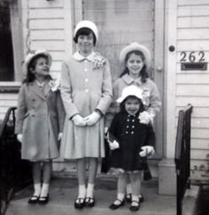 Easter 1964, complete with straw hats, little white gloves and pretty buckle shoes.