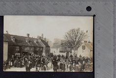 Oxfordshire - Bampton Old Berks Hunt Meet Outside Post Office 1909 RP   eBay
