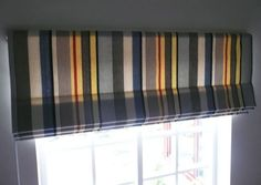 Roman Blinds, Curtains With Blinds, Beautiful Blinds, Roller Blinds, Striped Fabrics, Shop, Home Decor, Decoration Home, Roman Shades