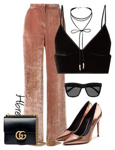 """Untitled #143"" by heatherbre on Polyvore featuring Alberta Ferretti, T By Alexander Wang, Miss Selfridge, Gucci, Alexander Wang and Yves Saint Laurent"
