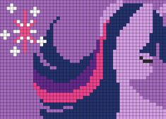 MLP Twilight Sparkle By MegaSweet perler bead pattern