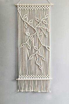 Online shopping from a great selection at Home & Kitchen Store. Macrame Design, Macrame Art, Macrame Projects, Macrame Knots, Macrame Wall Hanging Patterns, Macrame Patterns, Macrame Wall Hangings, Tapestry Wall, Macrame Curtain