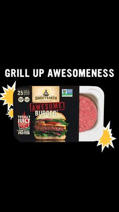 Fire up the Grill with the Sweet Earth Awesome Burger. Totally Plant-Based, Totally Juicy. Ready for your summer cook out. Healthy Tips, Healthy Choices, Healthy Recipes, Healthy Food, Vegan Food, Healthy Meals, Vegetarian Recipes, Healthy Eating, Franck Provost