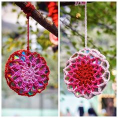 queen_babs Cd mandalas hanging from the tree outside Coco Cubano @cococubanocentralpark at Central  Park Mall Chippendale. @centralparkmall_  They are part of the 24 cd #mandalas  #crocheted by @westykazz and myself. You can find 2 #freecrochetpatterns for these on my website in the link on my profile. Check under Patterns. A big thank you to @jam_project for the lovely photos. .  #queenbabs #crochet #yarnbombeverything #makethestreetsbeautiful #yarn #knit #colourful #creative #craft…