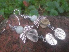Citrine and jade angels earrings - Lady Star's & Fire, Natural Bleandings, Magical Charms & Understandings