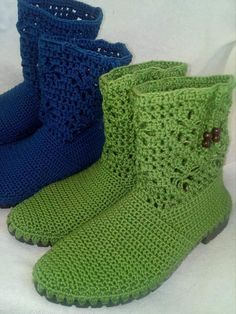 Crochet Boots, Plus Size Shirts, Crocheting, Quilting, Socks, Sewing, Fashion, Bebe, Booties Crochet