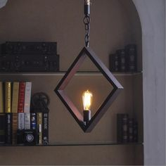 With its simple but unique design, this retro industrial style pendant light will be the center of attention in your room. Diy Pendant Light, Pendant Light Fixtures, Pendant Lamp, Pendant Lighting, Luminaire Design, Lamp Design, Linear Lighting, Lighting Design, Diy Christmas Lights