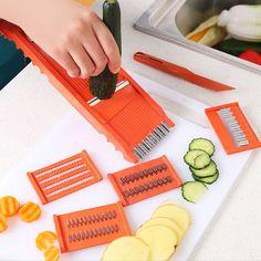 6pcs/set Vegetable Potato Slicer Cutter Peeler Chopper Dicer Set Diy Kitchen Food Tool Kits GF343